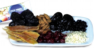 candied fruits plate