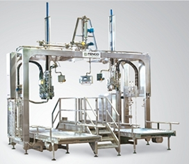 Dual head aseptic filler for fruit products
